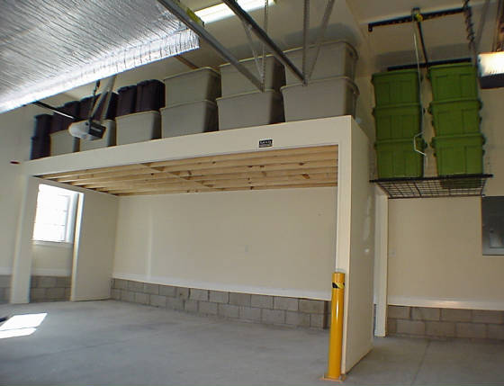 Garage ideas on pinterest rust removal shop storage and for Diy garage storage loft
