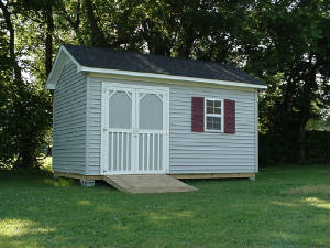 Country Cottage Building with Vinyl Siding