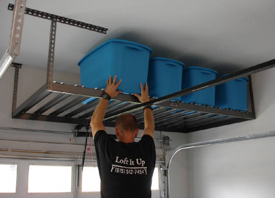 Load Your Overhead Storage With A Small Step Stool