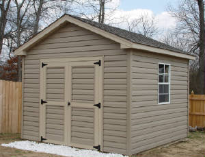 10' x 10' Storage Building with Vinyl Siding